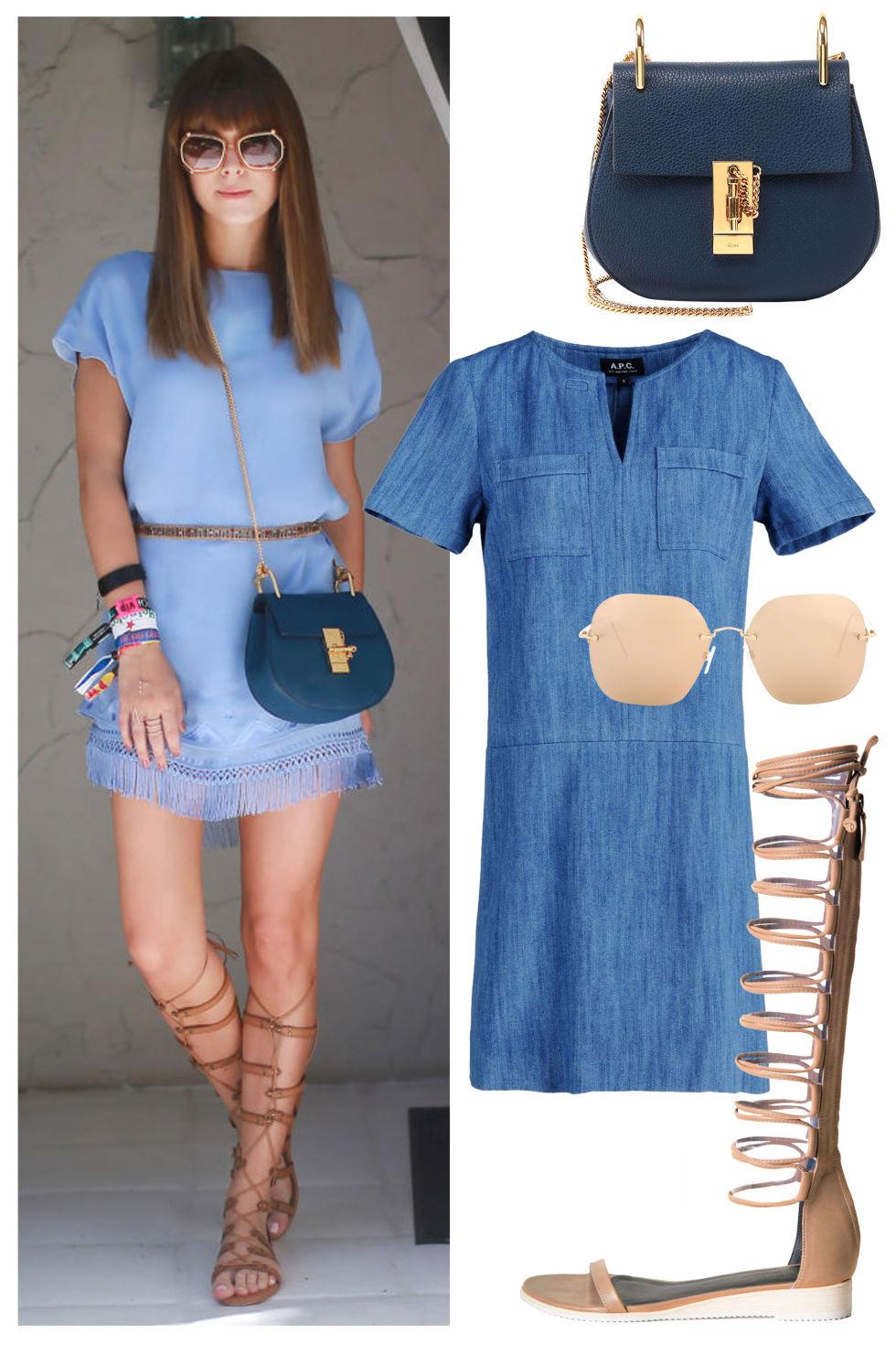 mavi günlük giyim kombin