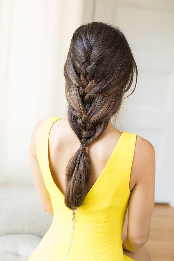 fransız örgü saç stili